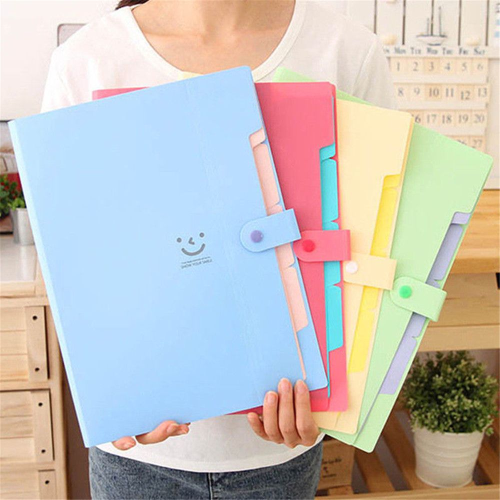 1Pcs A4 File Document Bag Pouch Bill Folder Holder Organizer Fastener Office Supplies