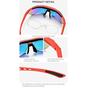 Image 4 - TR90 偏光スポーツサングラス高品質サングラス女性 2019 新近視処方ゴーグルシェード 5 レンズ 3204