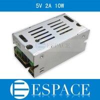 100 шт./лот 5 В 2A 10 Вт Импульсные блоки питания драйвера для Светодиодные ленты AC 100 240 В Вход к DC 5 В Бесплатная FedEx
