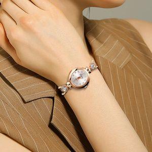 Image 5 - Dames élégantes montres bracelets femmes Bracelet strass analogique Quartz montre femmes cristal petit cadran montre Reloj # B