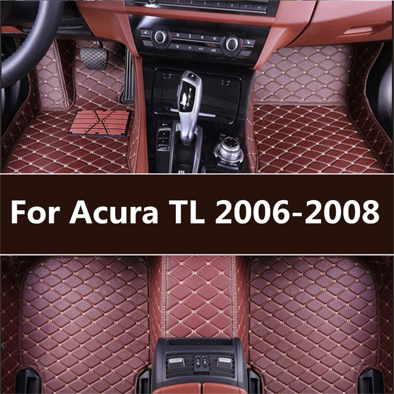 Leather Car Floor Mats For Acura TL 2006 2007 2008 2009