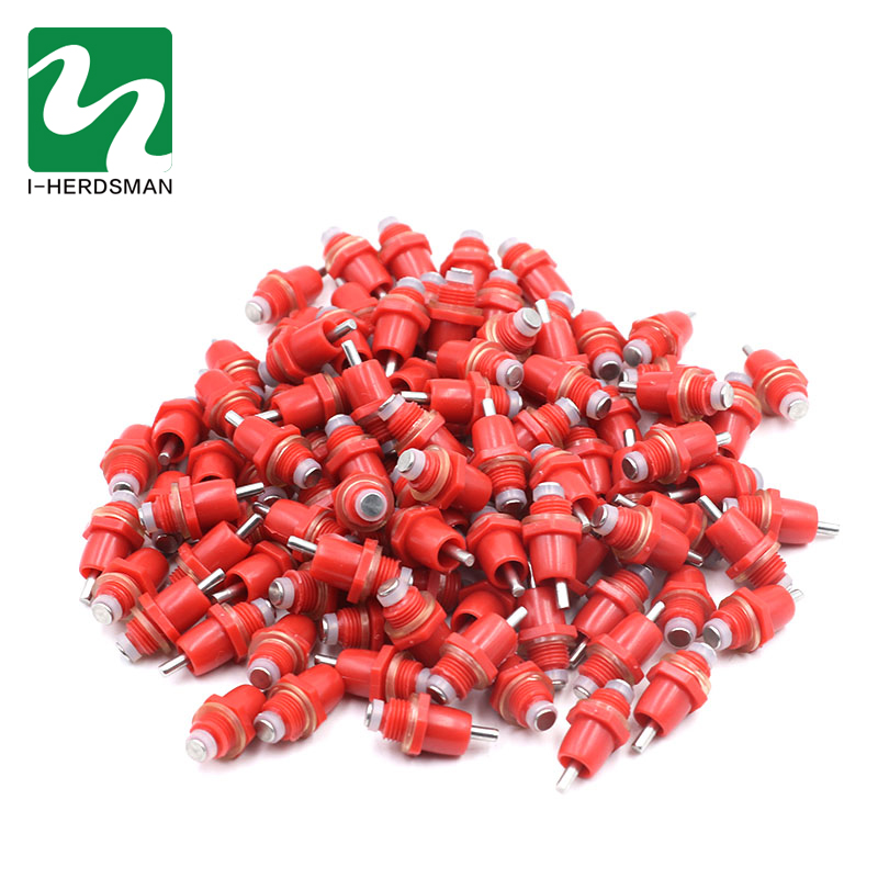 Chicken Feeder Nipper 10pcs//Pack ABS Easy to Install Automatic Chicken Ducks Feeder Nipples Water Drinking Dispenser for Poultry Farming
