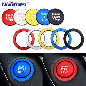 Doofoto Car Styling Engine Start Button Ring Covers Case For Toyota GT86 FT86 FR-S Corolla C-HR Rav4 Yaris 2018 2019 Accessories image