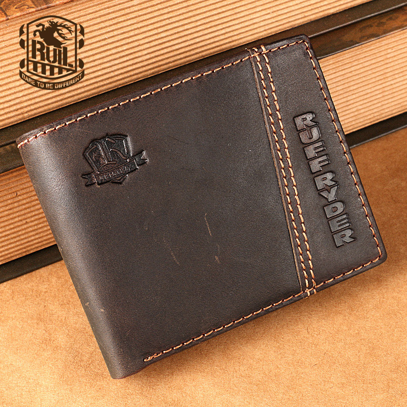 Ruil 2017 New font b wallet b font Luxury retro casual 100 authentic genuine leather crazy