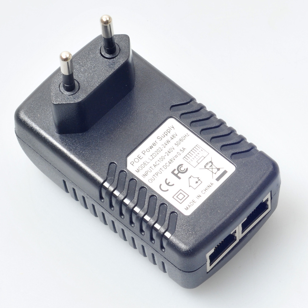 48v 0 5a eu wall plug poe injector ethernet adapter power supply for network ip camera security cctv