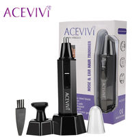 ACEVIVI Nose Hair Trimmer Professional Water Resistant Heavy Duty Stainless Steel Nose Ear Hair Trimmer With