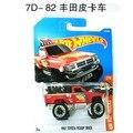 Nueva llegada 2017 hot wheels no. 82 toyota metal diecast cars colección kids toys vehículo para niños juguetes de colección
