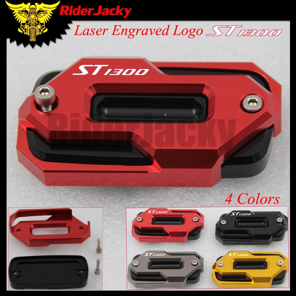 RiderJacky Motorcycle Front Brake Master Cylinder Fluid Reservoir Cover CAP For Honda ST1300 ST 1300 2002-2003