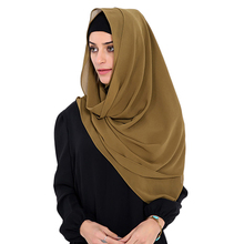 Babalet Womens' Modest Muslim Long Hijab Scarf Solid Sheer Chiffon Islamic Long Wrap Scarf Hijab Caps Shawl Arab Headscarf Hijab