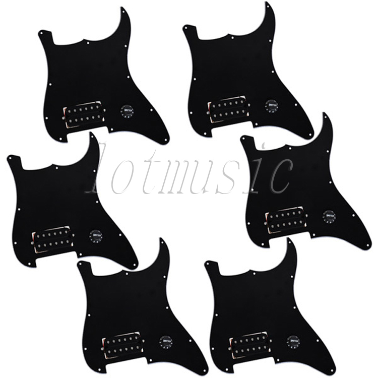 6PCS New 3Ply Black Prewired Pickguard With One Humbucker For ST Electric Guitar Replacement bolsius