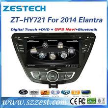 ZESTECH High performance dual-core touch screen Car dvd gps for Hyundai Elantra 2014 Car dvd gps with radio,RDS,3G+factory