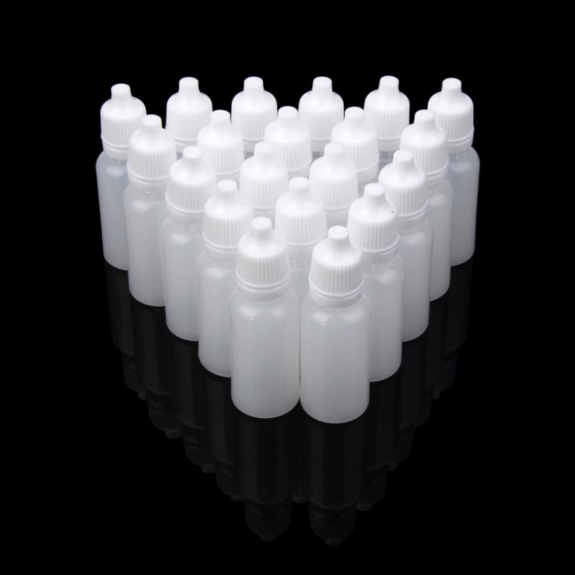 New Designer 15ml Empty Plastic Squeezable Dropper Bottles Eye Liquid Dropper Can easily be sterilized Anne