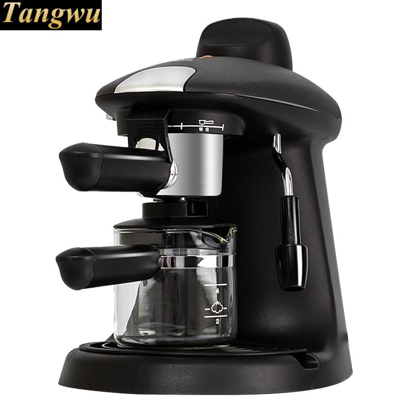 espresso machine is a semi-automatic household coffee pot with high pressure steam