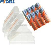 8x2500 mWh 1.6 V PKCELL Ni Zn-AA Bateria Recarregável e 2 PCS Bateria CAIXA CASO HOLD para os Brinquedos, câmera Digital, MP4