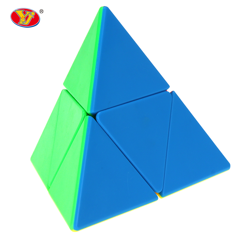 2*2 Pyramid Cube Stickerless Magic Cubes Professional 2x2x2 Puzzle Speed Cube Educational Toys For Children
