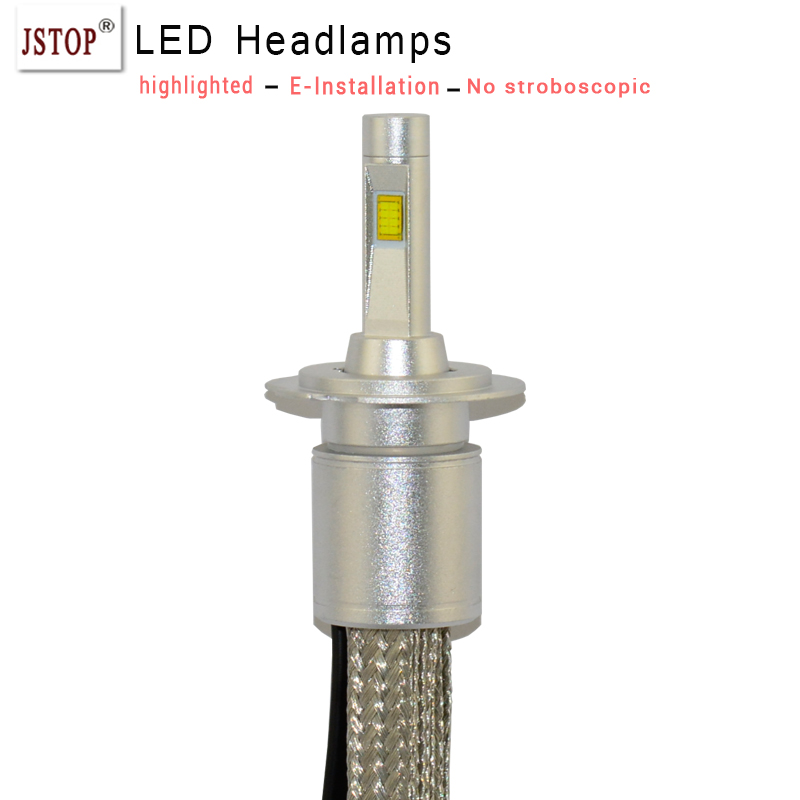 цены car headlights H4/9003/HB2 high/low beam H7 H1 LED canbus Automobiles Headlamp 6000K bulbsWhite external light H1 led headlights