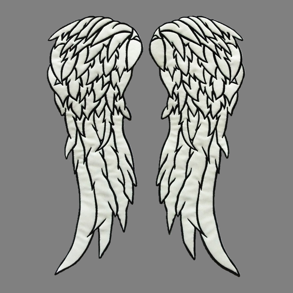 By Patch Squad 8x11 Daryl Dixon Iron on embroidered Wing Vest patch