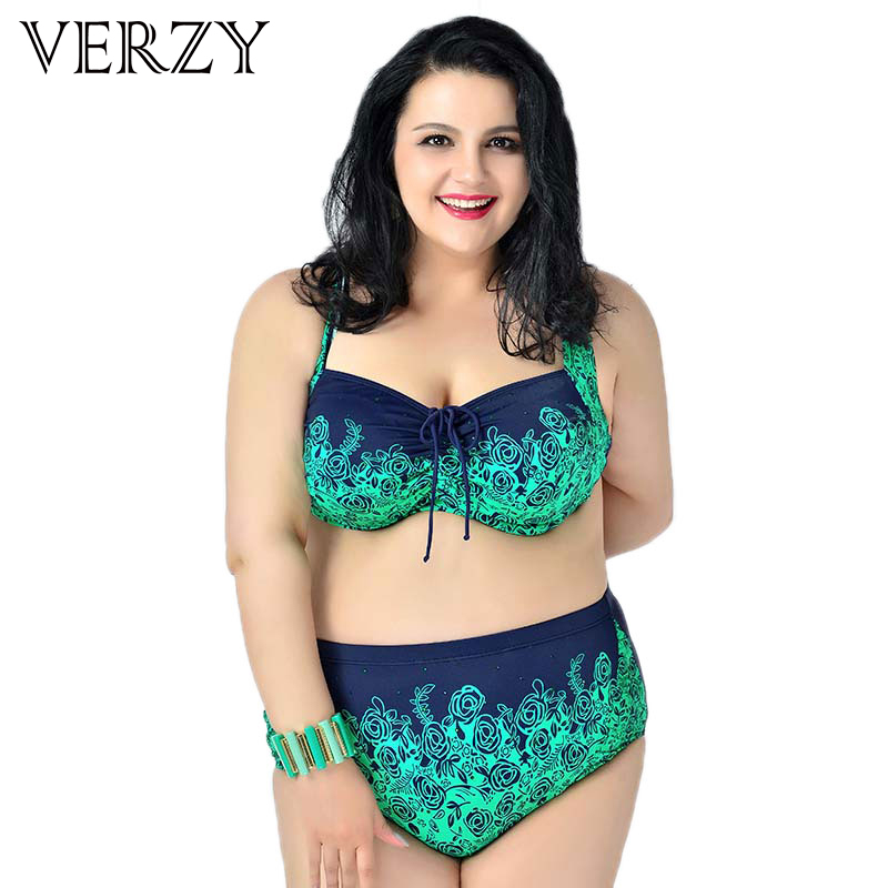 Extra large High waisted bikinis women swimsuit 2017 plus size bikini Flower print swimming suit Big Ladies biquini swimwears eurosvet потолочная люстра eurosvet 3353 3н золото коричневый