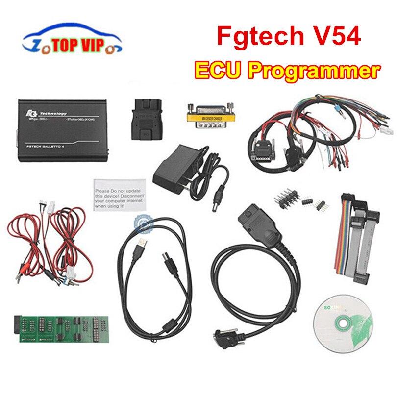 Technologie FG V54 Master ECOBD2 adaptateurs complets OBD2 K-CAN haute vitesse USB2 FGTECH Galletto 4 FG-TECH BDM-tricor-obd-fonction