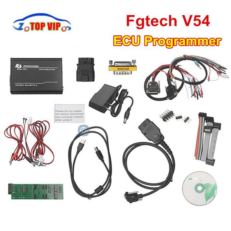 low Price Fgtech Galletto V54 ECU Programmer Master ECU Tuning FG V54 Unlocked Add OBD BDM Cheap Car diagnostic tool