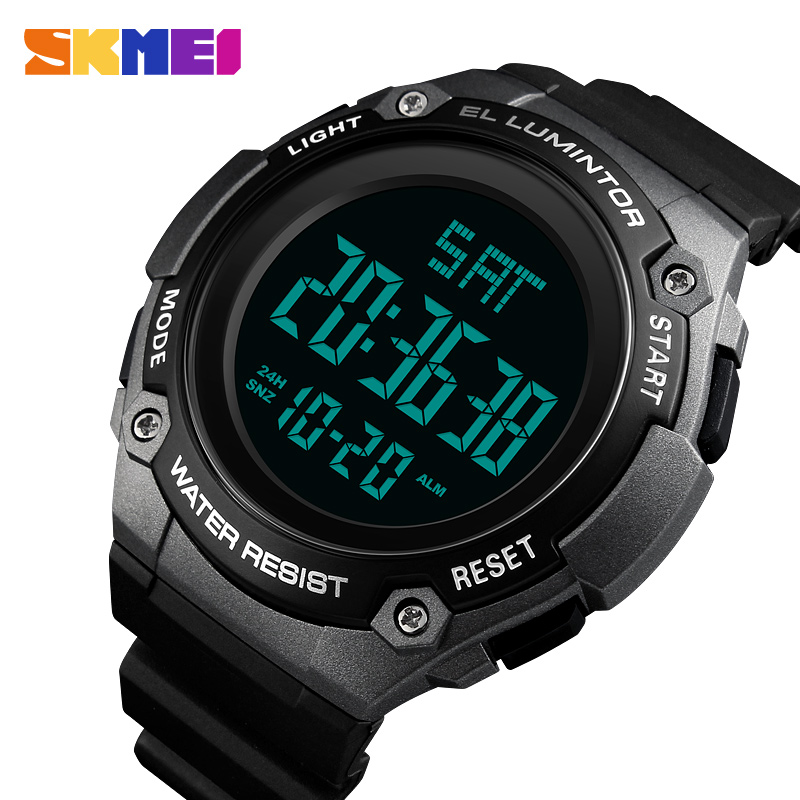 SKMEI Digital Mens Watches Fashion Outdoor Sports Electronic LED Clock Male Waterproof Casual Military Men Wrist WatchSKMEI Digital Mens Watches Fashion Outdoor Sports Electronic LED Clock Male Waterproof Casual Military Men Wrist Watch