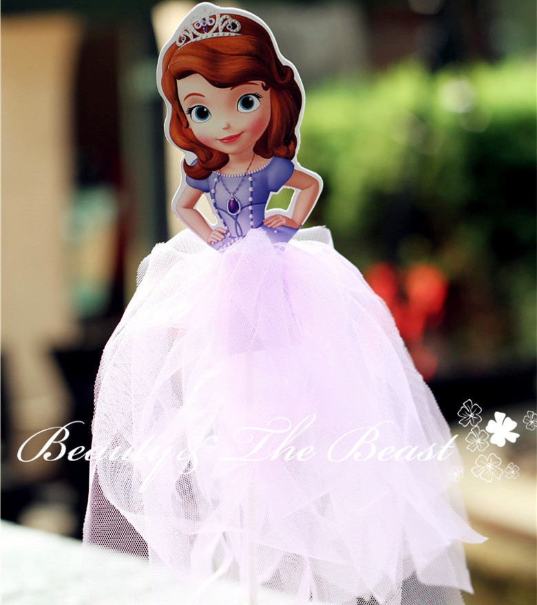 12 High Princess Sofia The First Cake Toppers Cupcake Accessory