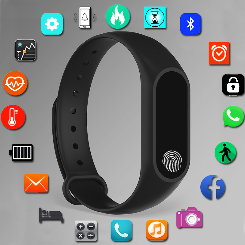 Sport Bracelet Smart Watch Women Men For Android IOS Smartwatch Fitness Tracker