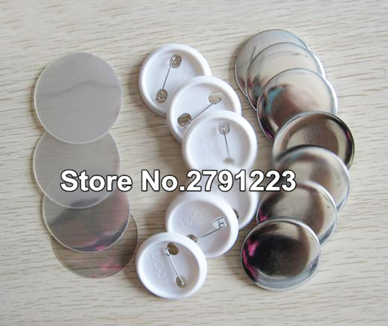 Free Shipping Discount Blank  37mm 100 Sets Professional Badge Button Maker Pin Back Pinback Button Supply Materials