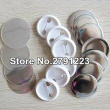Скидка пустые 37 мм 100 Наборы Профессиональный бейдж Кнопка производитель Pin Задняя Кнопка Pinback материалы Поставки