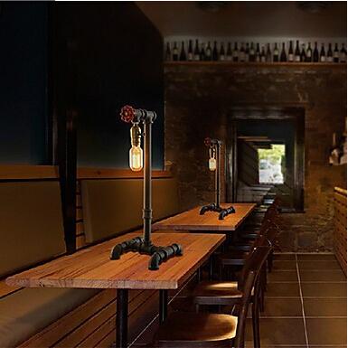Metal lâmpadas De Mesa para Bedroon em estilo Loft Industrial Edison vintage, Tubulação De água lâmpadas lâmpadas Abajur De Mesa