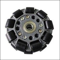100 MM DOUBLE roue en plastique OMNI avec roulements centraux 14060