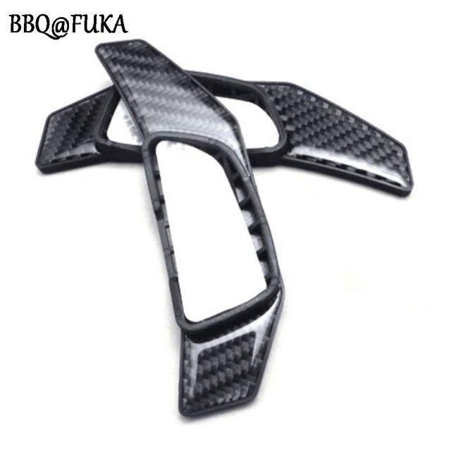 BBQ @ FUKA fibre de carbone volant manette de vitesse Extension palette couverture garniture pour Benz W205 BK C300/180/200/250 GLC300 2010-2016