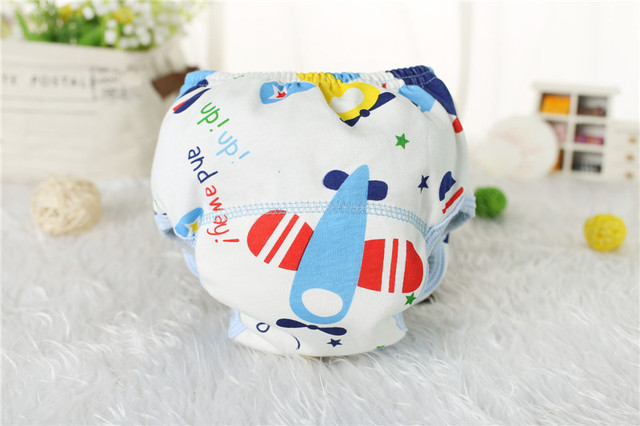 1Pcs Cute Baby Diapers Reusable Nappies Cloth Diaper Washable