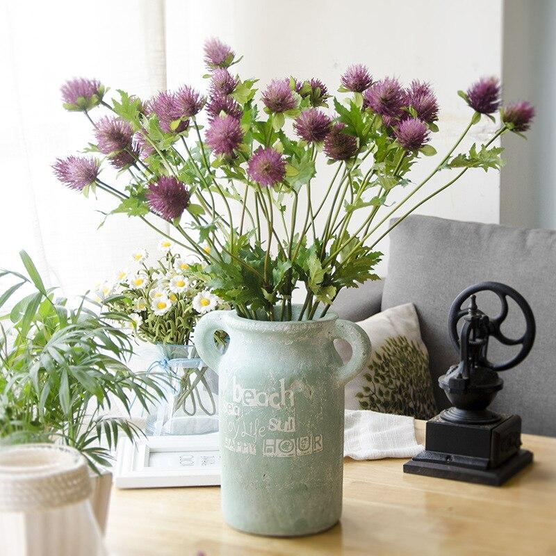 60 см 3 вилки сельдерей моделирование Искусственные цветы Одуванчик чертополох цветок Свадьба День Святого Валентина украшения дома