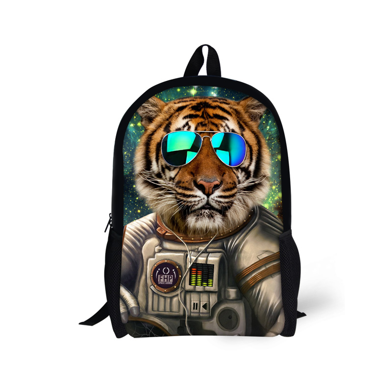 Fashion Custom Student School Backpacks Tiger Dog Prints Zoo Animal Backpack for Teenagers Boys Travel Casual