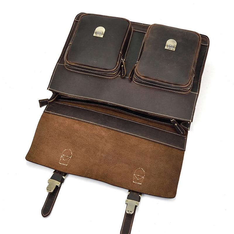 HTB1lMjTX8iE3KVjSZFMq6zQhVXat MAHEU Luxury Fashion 100% Genuine Leather Men Briefcase Cow Leather Laptop Bag Vintage Shoulder Bag Real Cowhide Computer Bag