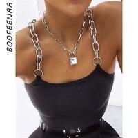 Женский топ на бретельках BOOFEENAA, с цепочкой, модная уличная одежда, лето 2020, черный, белый, C70-G56