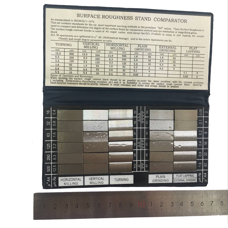 US $119 66 49% OFF|HY 3 Surface Roughness Comparison Sample Block Notebook  Sample 30 Blocks Ra0 05 12 5mm Roughness Sample Block-in Instrument Parts &