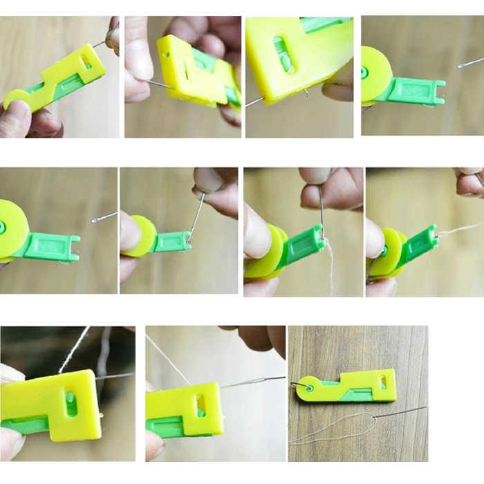 אקראי צבע אוטומטי מחט מברז עוזר תפירת מחט מכשיר מברז חוט מדריך כלי Wh