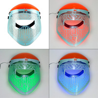 New Red Blue Green 3 Colour Light Therapy LED Beauty Facial Mask PDT Mask Acne Treatment