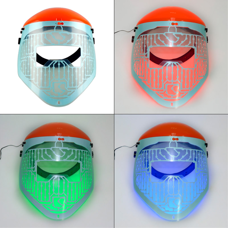 New Red blue green 3 colour light therapy LED beauty facial Mask PDT Mask acne treatment LED face skin rejuvenation High Quality new 3 color led light therapy face mask skin care photon rejuvenation acne remover beauty face skin care tools red green blue
