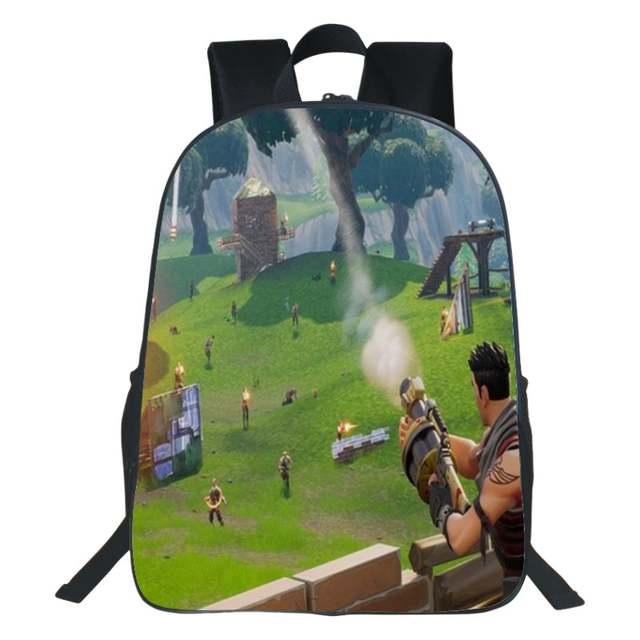 091b6b284b Online Shop QOKR fortnite battle royale bag 3D printing cartoon boys and  girls bookbag women and men school backpacks 16 inch size black new |  Aliexpress ...