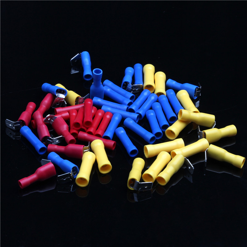 250PCS High Quality PVC Cold-Pressed Insulated Nylon Cold-Pressed Terminals Waterproof Electrical Crimp Connector with Box футболка toy machine seal black