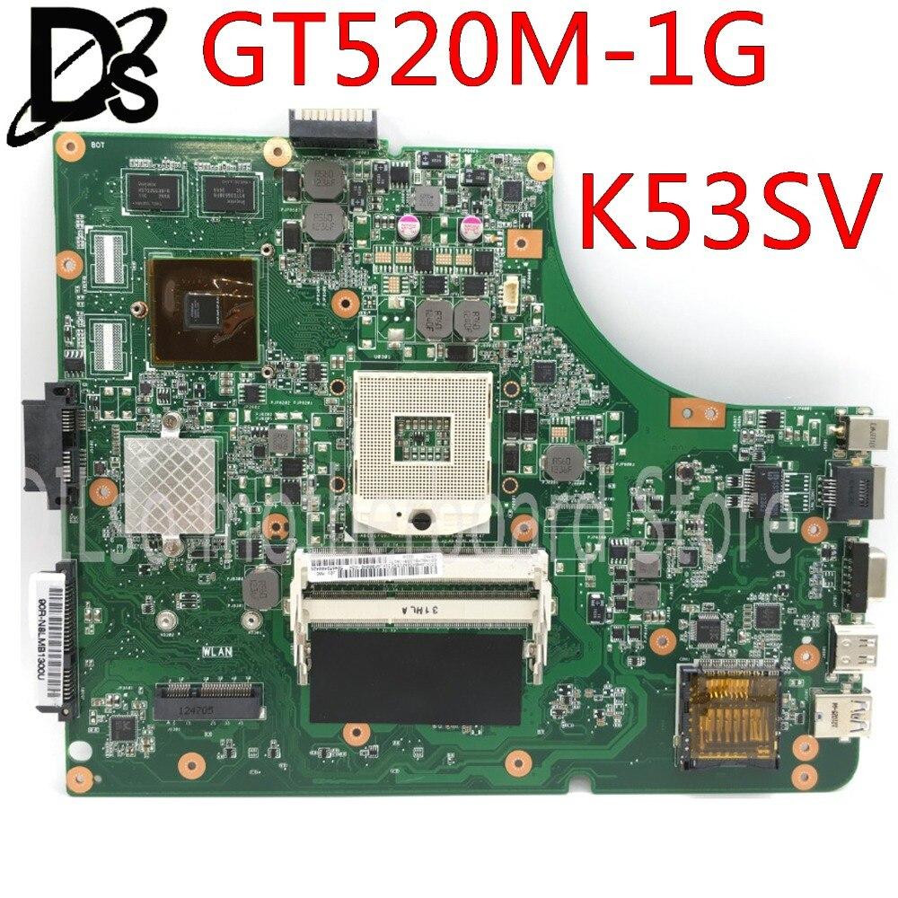 KEFU K53SV For ASUS K53S K53S K53SM K53SC K53SJ Mainboard Motherboard GT520M-1G Motherboard Integrated Test