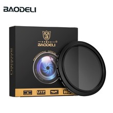BAODELI Neutral Density Filtro Nd Filter Variable Nd2-400 Concept 49 52 55 58 62 67 72 77 82 Mm For Camera Canon Dslr Nikon Sony 49 52 55 58 62 67 72 77 82 mm ring square graduated nd2 nd4 nd8 orange blue camera lens filter kit for cokin p series adapter
