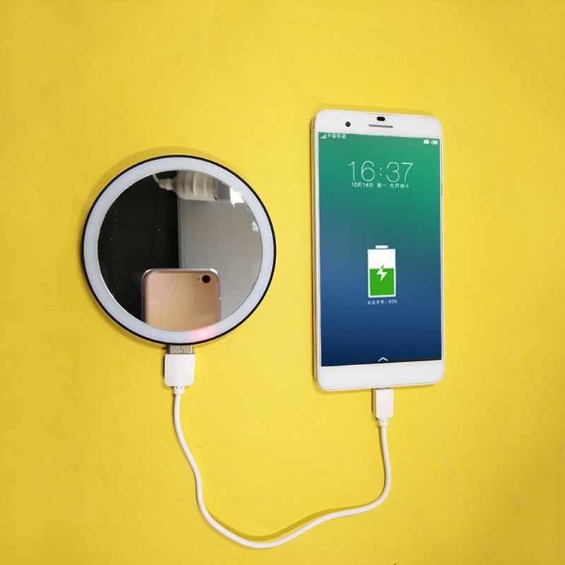 Светодиодный светильник для селфи с кольцом для студийной фотосъемки, видеокамера, кольцевая лампа HD, зеркало для макияжа, светодиодный источник питания для мобильного телефона