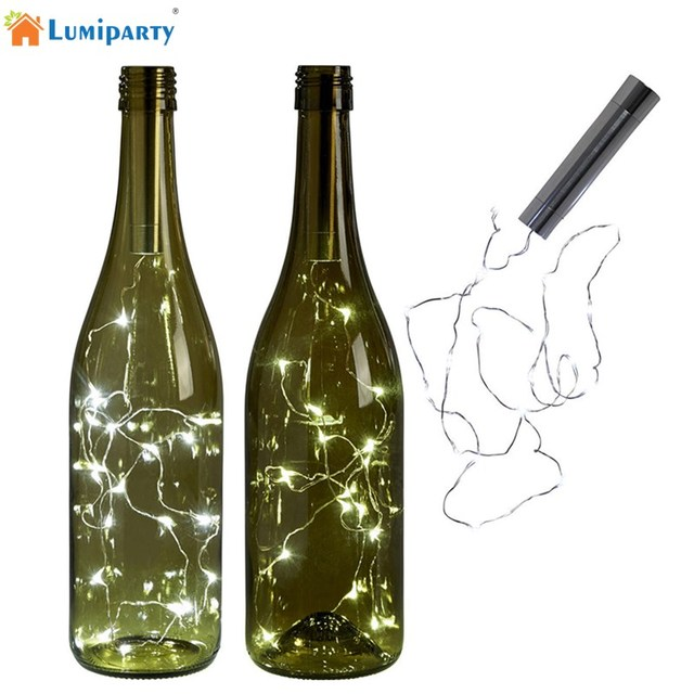 Lumiparty Battery Warm White Bottle Lights Led Cork Shape String For Bistro Wine Starry Bar Party Valentines