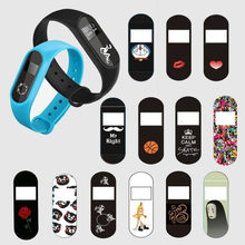 Man Women Sport Funny Cartoon Protective Film Guard For Xiaomi Miband Mi Band 2 Band2 Full Screen Protector Cover Protection(China)