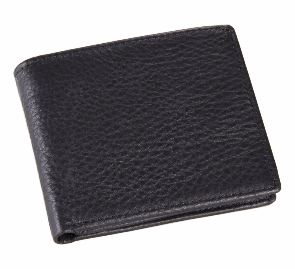 Cowhide Men Wallets Trendy New Real Leather Small Purse Men Multi Card Slots Practical DesClipigner Short Coin Purse