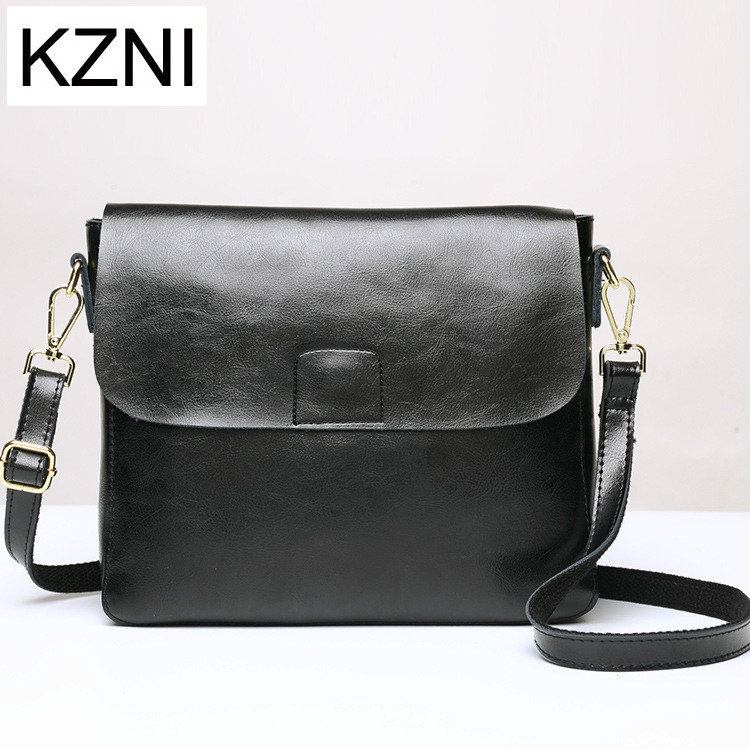 KZNI Genuine Leather Purse Crossbody Shoulder Women Bag Clutch Female Handbags Sac a Main Femme De Marque Z031801 kzni genuine leather bag female women messenger bags women handbags tassel crossbody day clutches bolsa feminina sac femme 1416